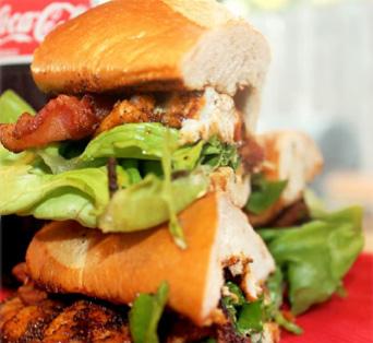 Cajun Blackened Redfish Po Boy Sandwich