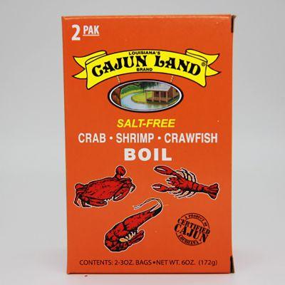 Cajun Land Salt Free Crab Shrimp and Crawfish Boil