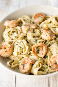 Shrimp Fettucine Alfredo Pasta Bake Recipe